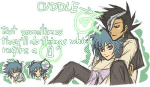 YGO GX: Cuddle by xJohan