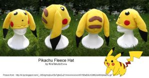 Pikachu Fleece Hat 1 by KiraTakuto