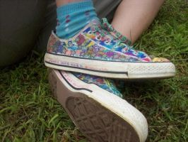 Rainbow Converse by Tasuu
