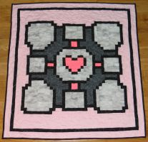 Companion Cube Quilt by quiltoni
