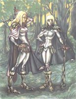 Claymore Teresa and Claire (2007) by La-Nora