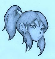 Korra sketch by ActionKiddy