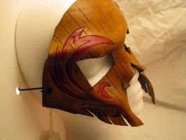Hawk Hunter- tree bark leather mask by wyldharrt
