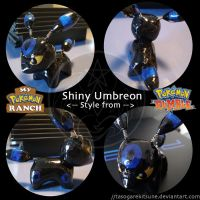 Pokemon RxR Shiny Umbreon by TasogareKitsune