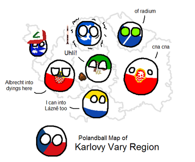 Polandball Map of Karlovy Vary Region by CeskyMicek