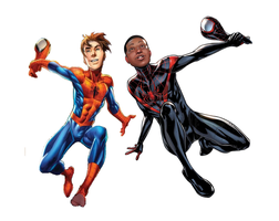 Peter Parker and Miles Morales by alienkid12