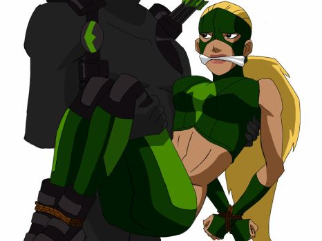 Young Justice Artemis Gagged by TheOneAndOnlyCaptor