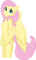 Anthro Mane 6 Vector - Fluttershy by Fehlung