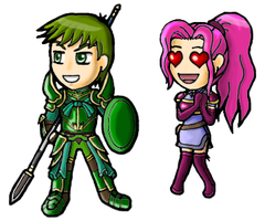 Chibi Bryan and Faline by Great-Aether
