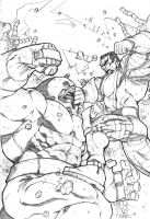 Juggernaut VS Colossus by MiaCabrera
