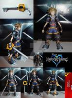Sora - Kingdom Hearts II Papercraft by Eternal-Axis