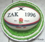 England Rugby Ball Cake by ginas-cakes