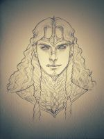 Silmarillion - Mairon portrait by IngvildSchageArt