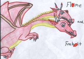 Flame and Firebolt by Sunfall16