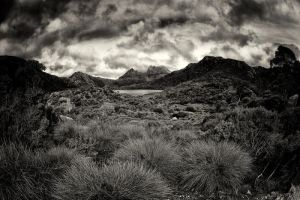 Cradle Lake Black and White by Questavia