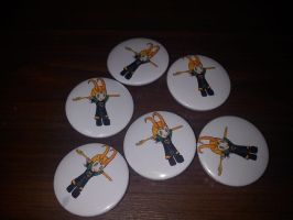 Chibi Loki Badges, for sale by Baka-customs