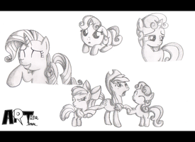 .Sisterhooves Social Sketches. by ZSparkonequus