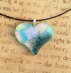 Tainted Love Fused Glass Pendant Blue by FusedElegance