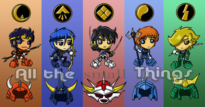 Ronin Warriors chibis by Kasandra-Callalily