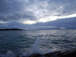 Eigg over the Waves by ewensimpson