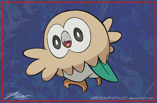Rowlet by WillDrawForFood1