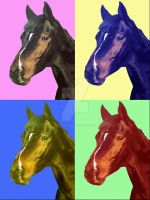 Horse PopArt by ArtsandDogs