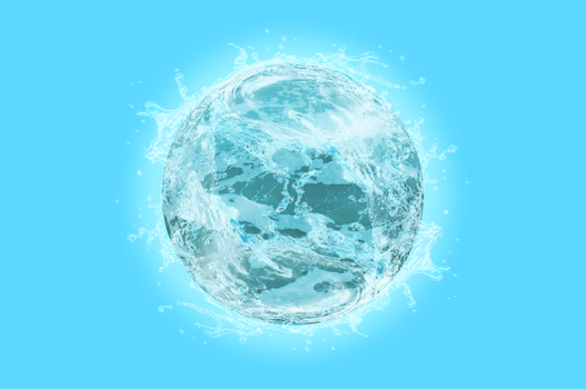 Water Sphere - Photoshop Edit by Maddy-The-Proxy