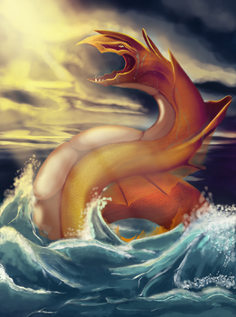 Serpent of the sea by Emisys