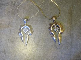 Mother Daughter Horde Pendant by Peaceofshine