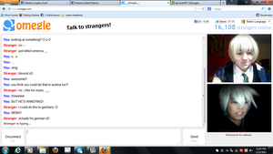 OMEGLE - the awesome me with biscuit boy by TheTwistedWonderland
