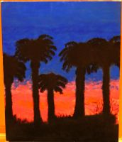 Palms in Sunset by dailybread5