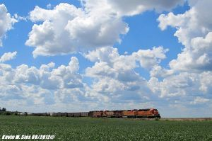 BNSF 2034 553 8629 6619 lead Local in the Clouds by EternalFlame1891