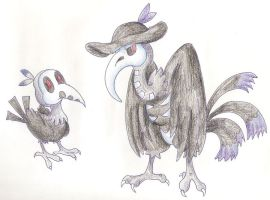 Fakemon - plague doctors by eternalsaturn