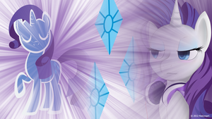 Rarity likes listening to music Wallpaper by nsaiuvqart