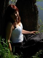 Paulina in the wood 15 by Lniannon-Stock
