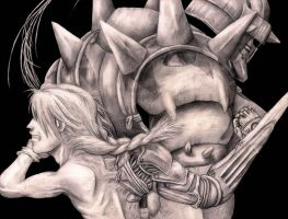 Fullmetal Alchemist pencil art by blackdragonhuntress