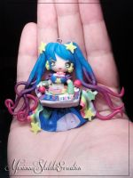 Arcade Sona handmade polymer clay Pendant by DarkettinaMarienne