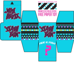 Stash Box Free Paper Toy by MsDaijahStylez