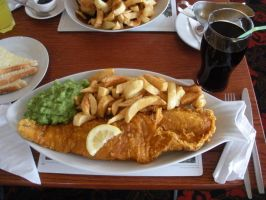 Huge Plate of Fish and Chips by rlkitterman