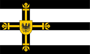 Flag of the Teutonic order of Hoovaria by PrussiaBrony22