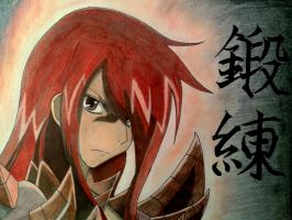 Erza Scarlet Drawing (Fairy Tail) by ChanandlerBong777