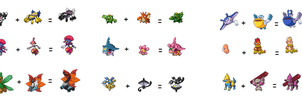 Some Pokefusions... by Carol-aredesu