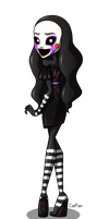 Puppet FNaF in Monster High by C-a-t-P-a-w