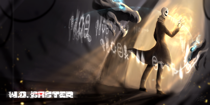 [Speed Paint] W.D. Gaster by kinotoha