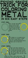 Tutorial: Coloring Metal by psychosako