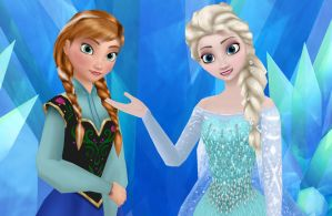Playing With Elsa and Anna Textures :D by Dramakid99