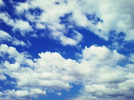 White clouds and blue sky. by 27darkroses
