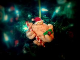 WoW Inspired Earth Elemental Christmas Ornament by Euphyley