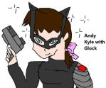 Andy Kyle with Glock 17 by Dinzydragon
