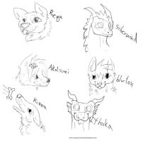 first 6 free sketches by CanineCriminal
